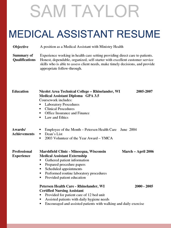 to write medical assistant resume in entry level objective sample hotel revenue manager Resume Entry Level Medical Assistant Resume