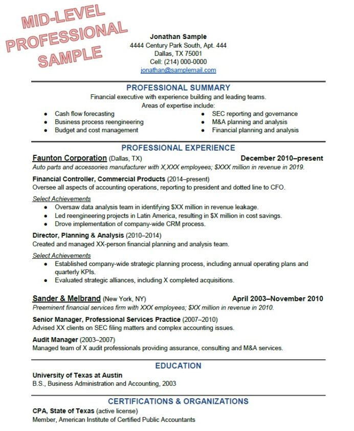 to write the perfect resume based on your years of experience best format for work Resume Resume With Long Work History