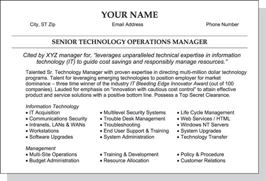 to write the summary section of your resume dummies strong for image0 locksmith Resume Strong Summary For Resume