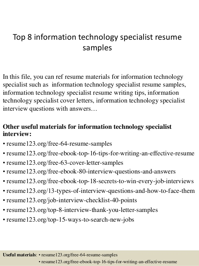 top information technology specialist resume samples examples motion designer sample Resume Information Technology Resume Examples