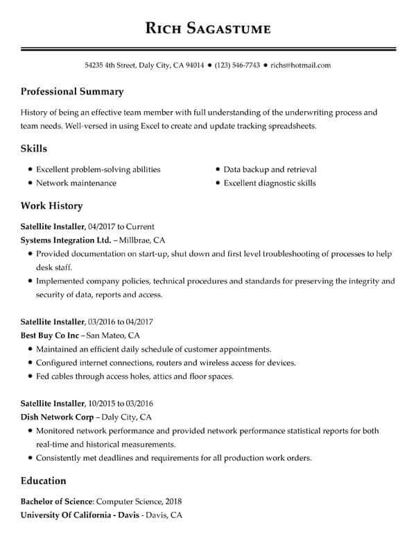 top resume objectives examples myperfect good summary customer service satellite tv Resume Good Resume Summary Examples