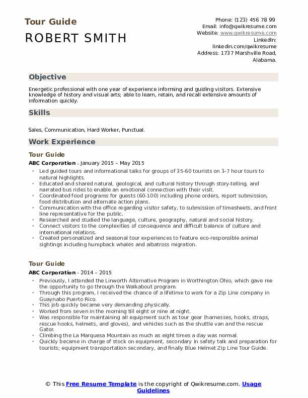 tour guide resume samples qwikresume sample objective for tourism students pdf career Resume Sample Resume Objective For Tourism Students