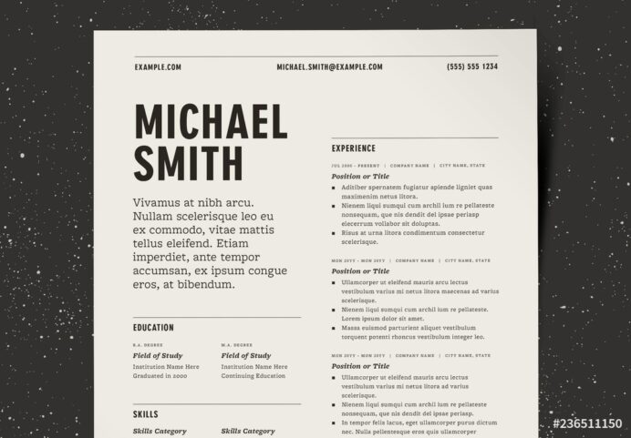 two column resume layout kit this stock template and explore similar templates at adobe Resume Two Column Resume Template