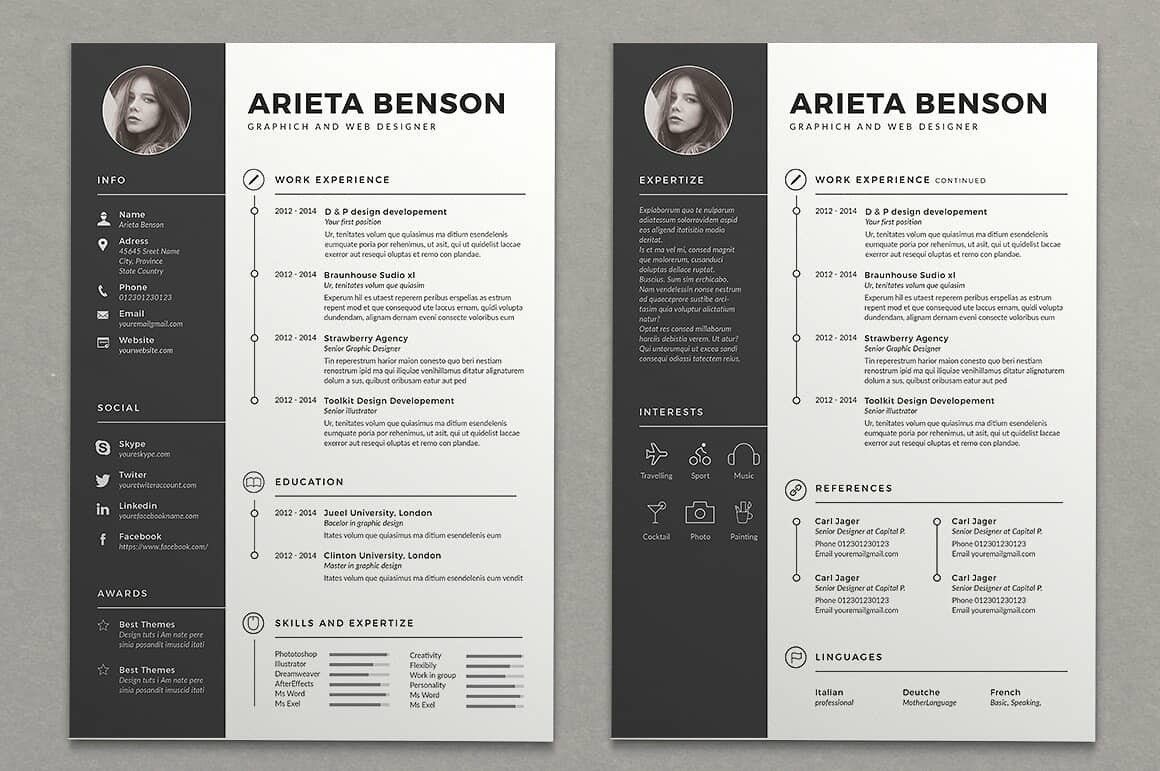 two column resume templates to free included template director of operations sample Resume Two Column Resume Template