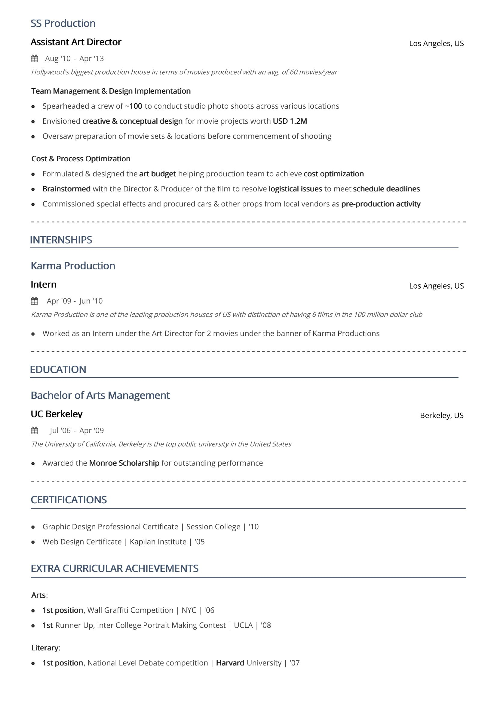 two resume format examples guide numbers on example jeff stratus brand manager royal blue Resume Page Numbers On Resume Example