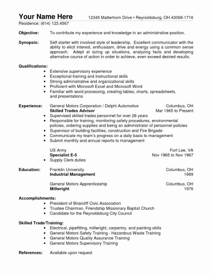 warehouse worker resume skills luxury sample examples job samples objective for easy free Resume Residential Counselor Resume