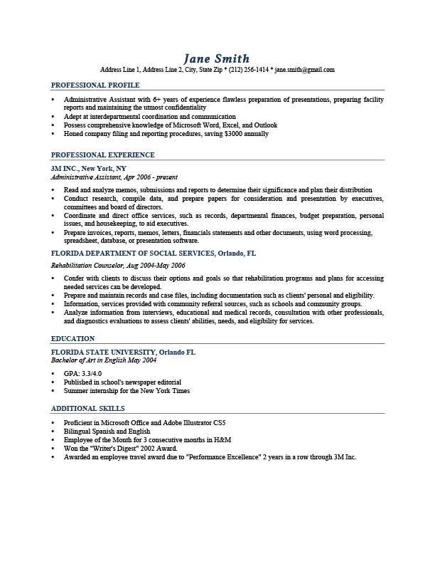 with resume profile samples format professional examples design engineer financial Resume Professional Profile Resume Examples
