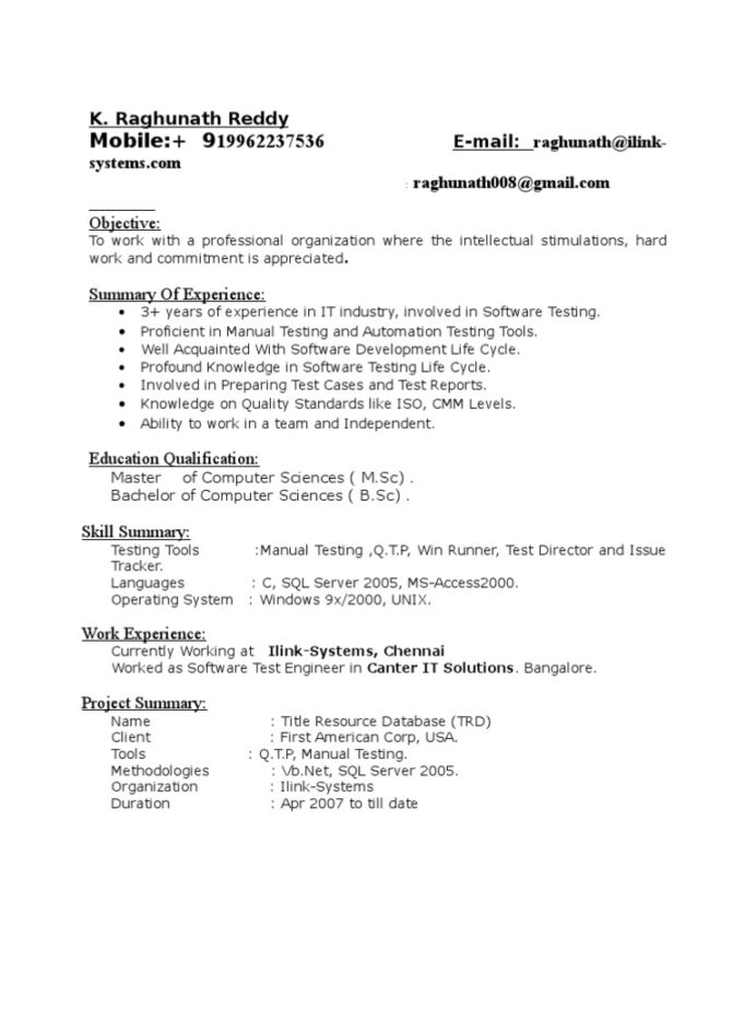 yrs exp in testing resume software information technology selenium for years experience Resume Ionic Platform Resume Example