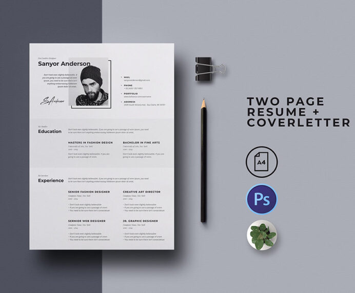 best free modern resume templates clean cv design formats and cover letter nice font for Resume Free Modern Resume Templates 2020