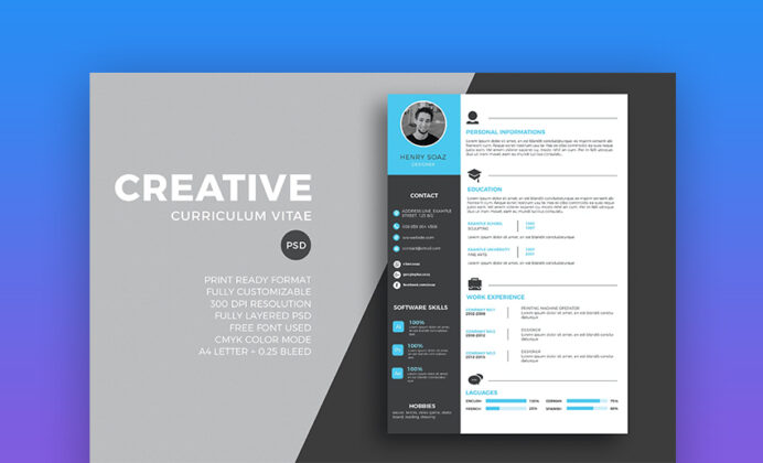 best free modern resume templates clean cv design formats fbi honors internship fashion Resume Free Modern Resume Templates 2020