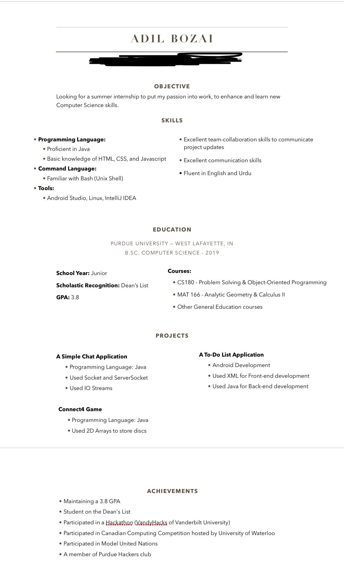 can you review my resume student and the projects put are all school resumes on Resume School Projects On Resume