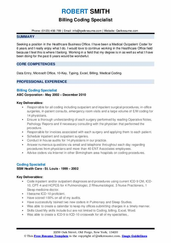 coding specialist resume samples qwikresume sample for medical pdf billing objective Resume Sample Resume For Medical Coding Specialist