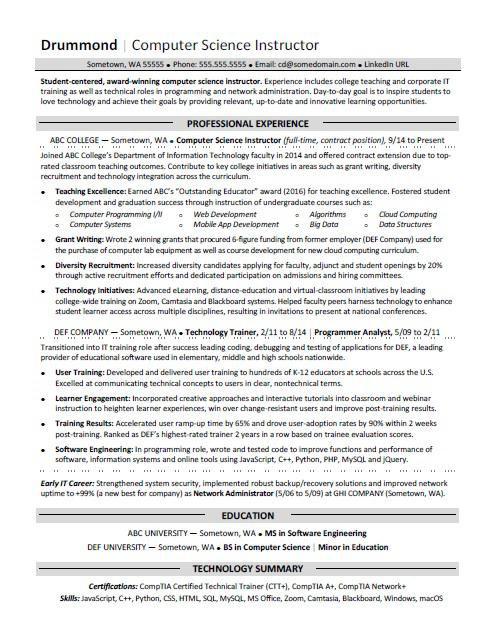 free sample computer science resume templates in ms word pdf graduate student profile Resume Computer Science Graduate Resume Sample
