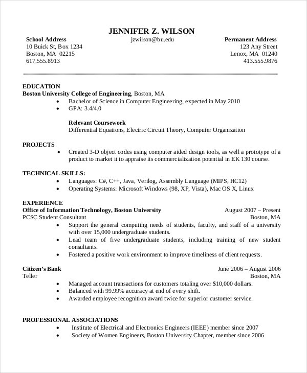 computer science resume templates pdf free premium graduate sample basic general tips Resume Computer Science Graduate Resume Sample