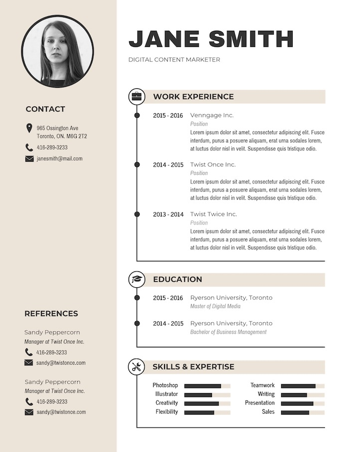 expert resume design ideas from hiring manager contact information modern simple business Resume Resume Contact Information