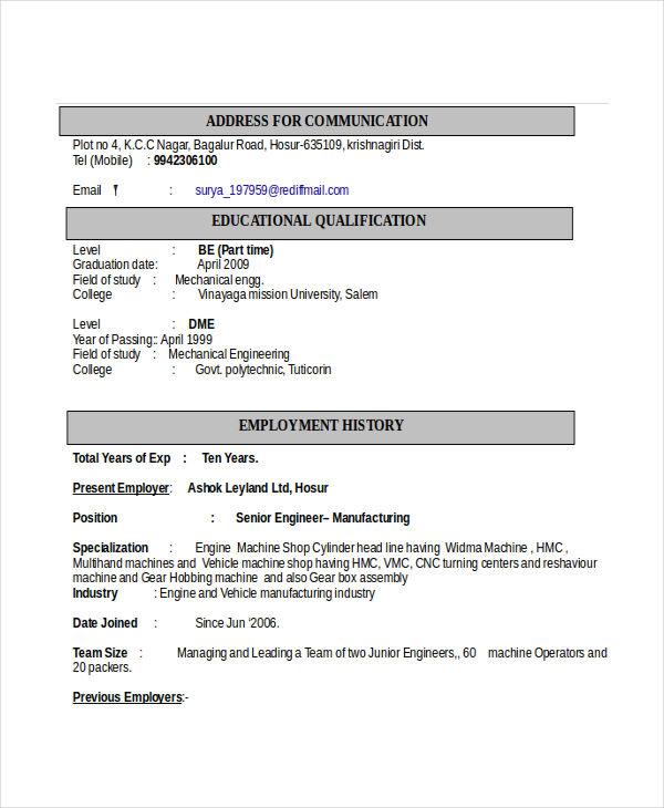 for engineering resume formats format automobile engineer executive template free sample Resume Automobile Engineer Resume