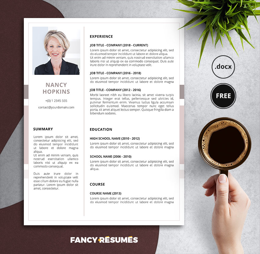 free resume templates for microsoft word best of modern nancy template hospice rn case Resume Free Modern Resume Templates 2020