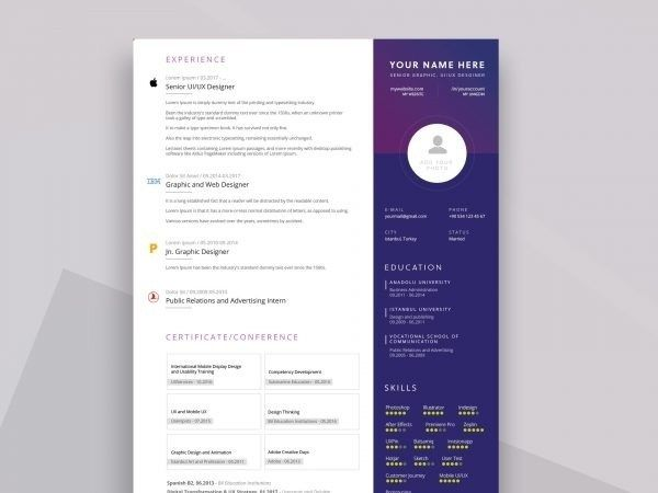 free simple resume cv templates word format resumekraft template downloadable graduate Resume Resume Template 2020 Word Free