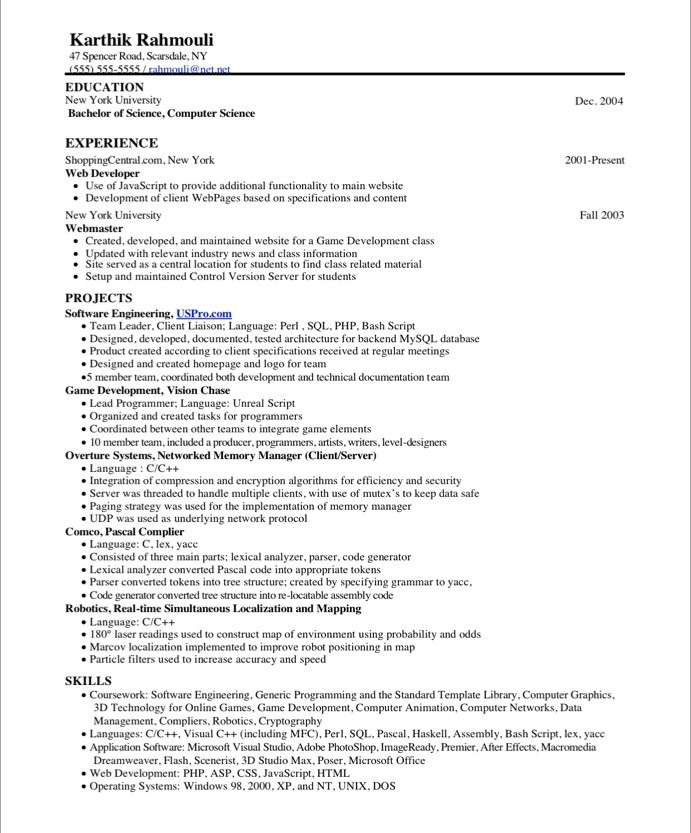 game programmer free resume samples blue sky resumes school projects on before graphic Resume School Projects On Resume