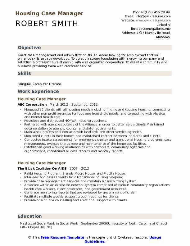 housing case manager resume samples qwikresume management pdf duties for cashier Resume Case Management Resume Samples