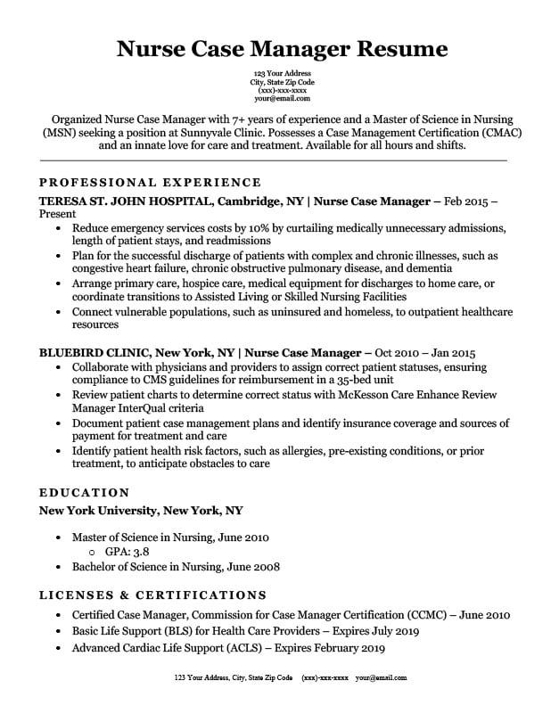 interview getting resume samples by job affirmations examples nurse manager case Resume Case Management Resume Samples