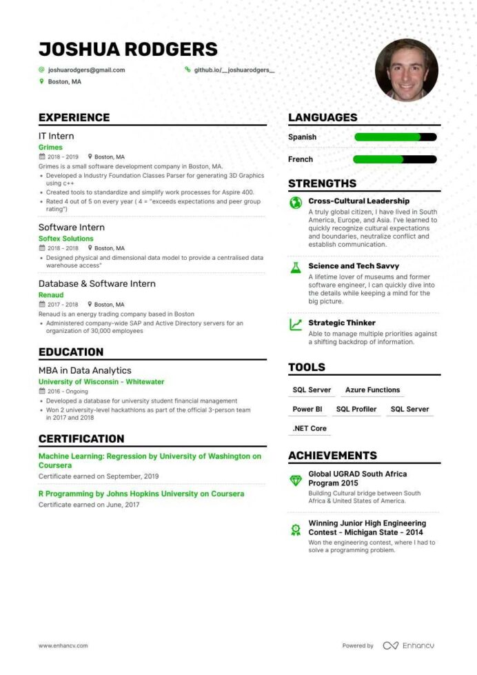 job winning computer science resume examples samples tips enhancv graduate sample general Resume Computer Science Graduate Resume Sample