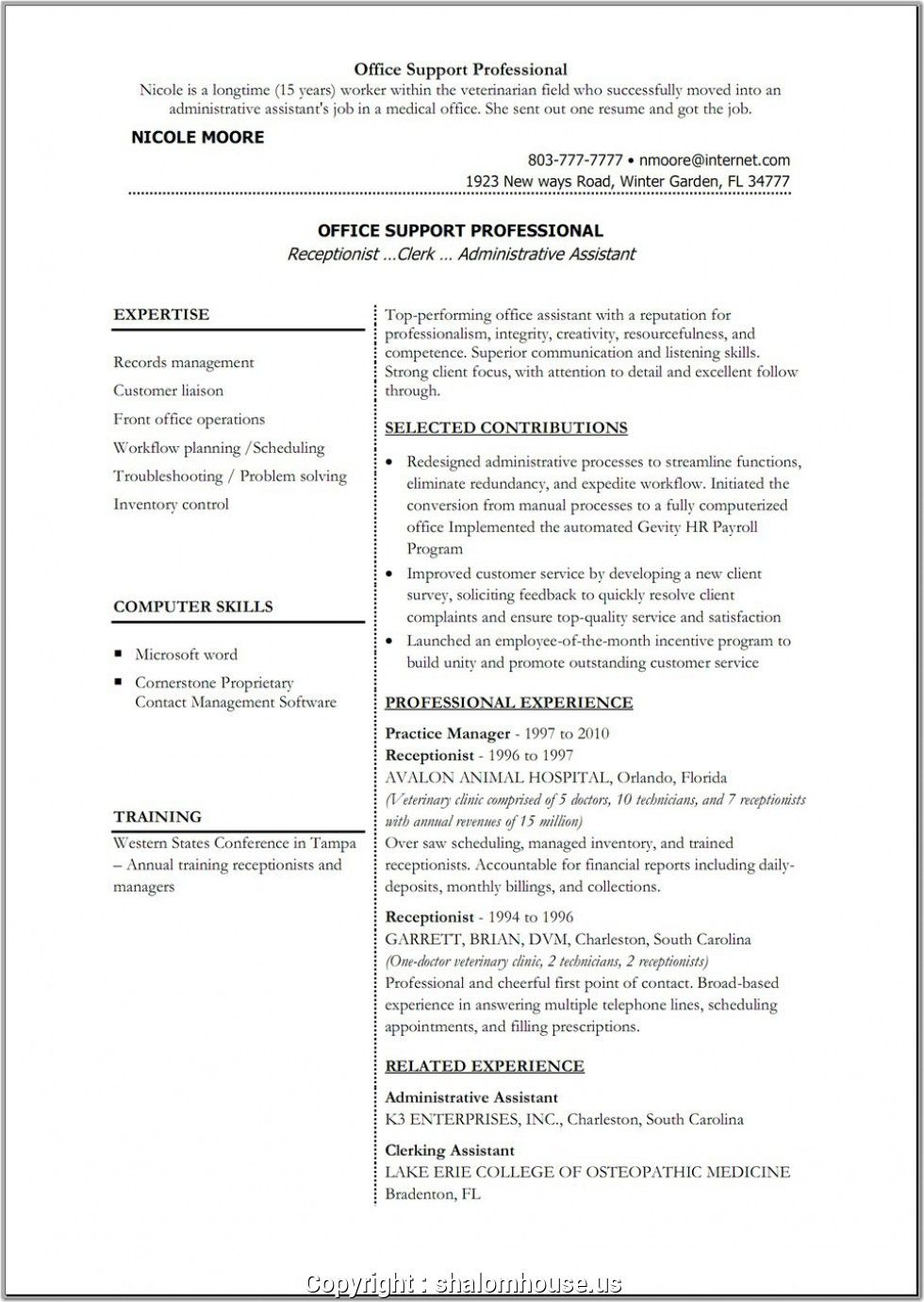 make sample resume for back office executive stud teacher template free cover letter Resume Resume Format For Back Office Executive
