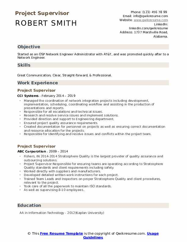 project supervisor resume samples qwikresume school projects on pdf graphic design Resume School Projects On Resume