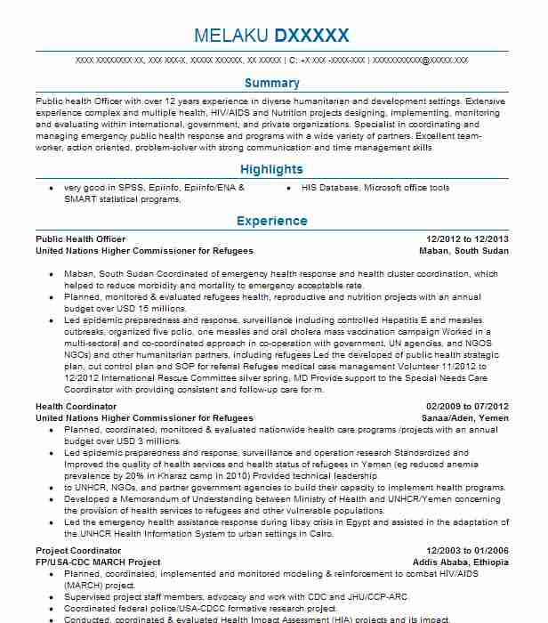public health officer resume example company name sample tableau developer maintenance Resume Public Health Resume Sample