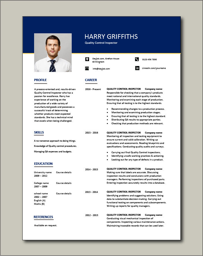 quality control inspector resume dayjob inspection coordinator free template vice Resume Inspection Coordinator Resume