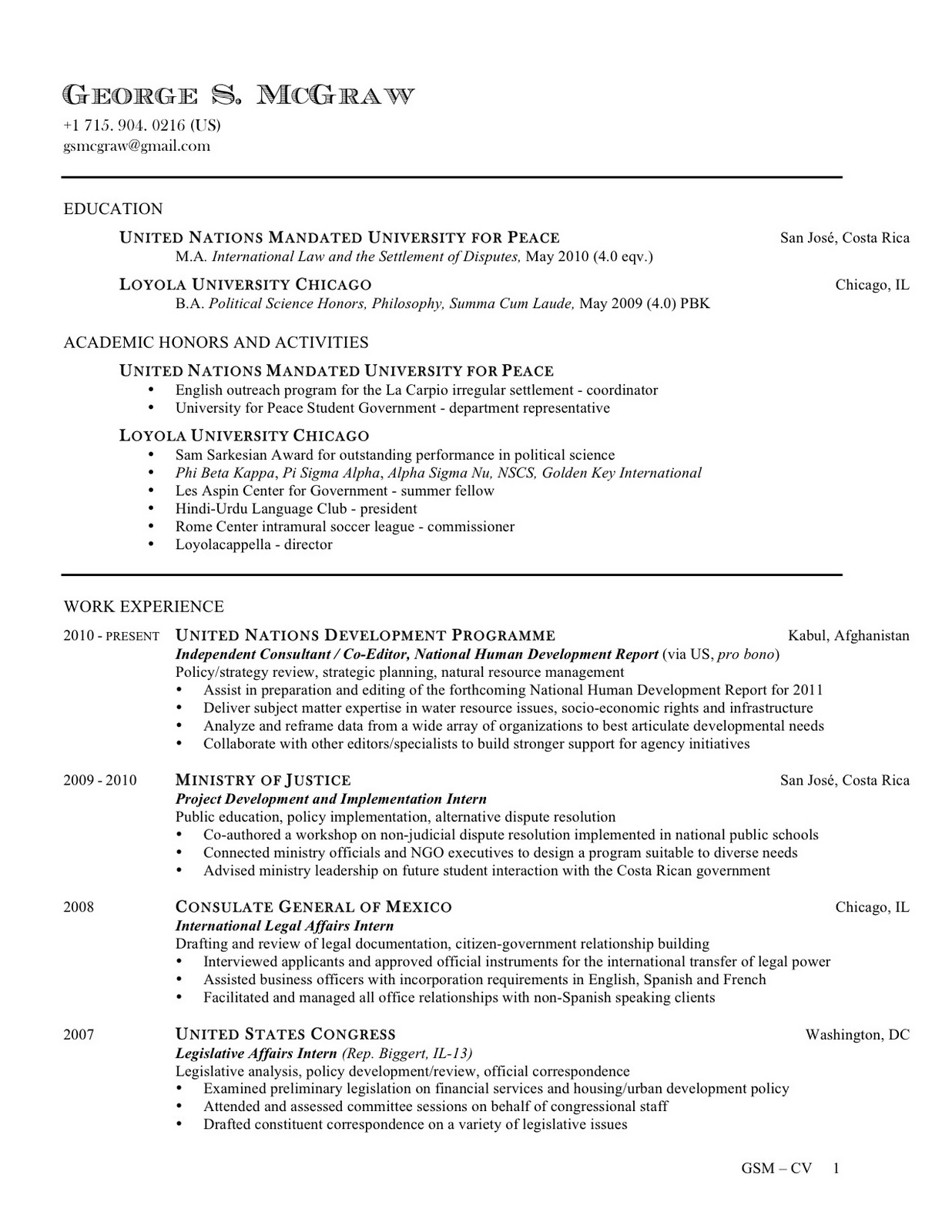 resume and publications cv contact information cv12 10page1 define cover letter for vs Resume Resume Contact Information