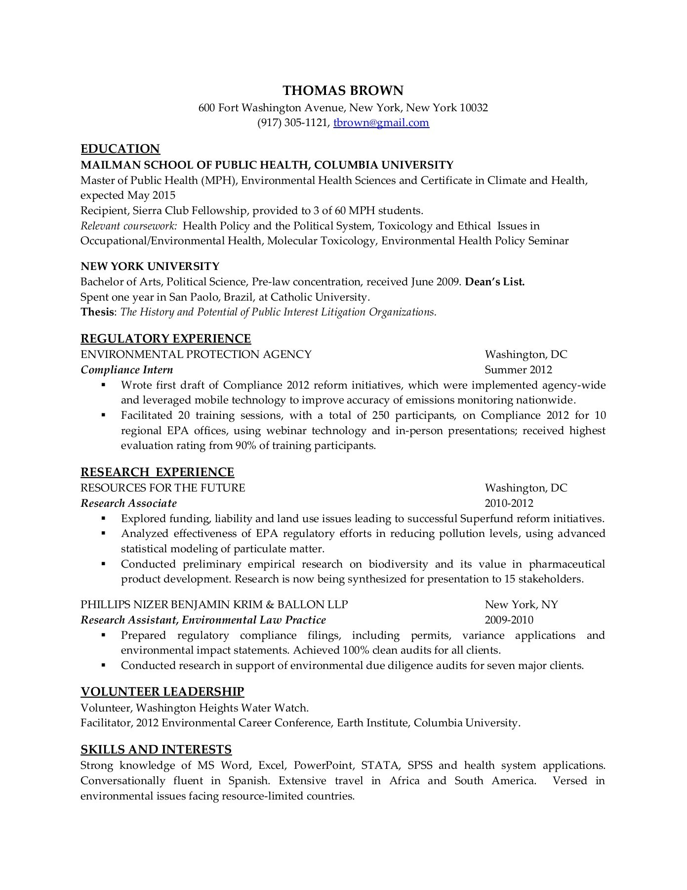 resume samples mailman school of public health sample lab assistant maintenance Resume Public Health Resume Sample