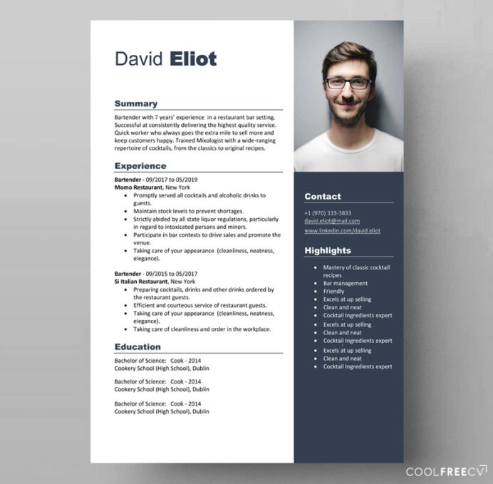 resume templates examples free word template bartender scan with job description graduate Resume Resume Template 2020 Word Free