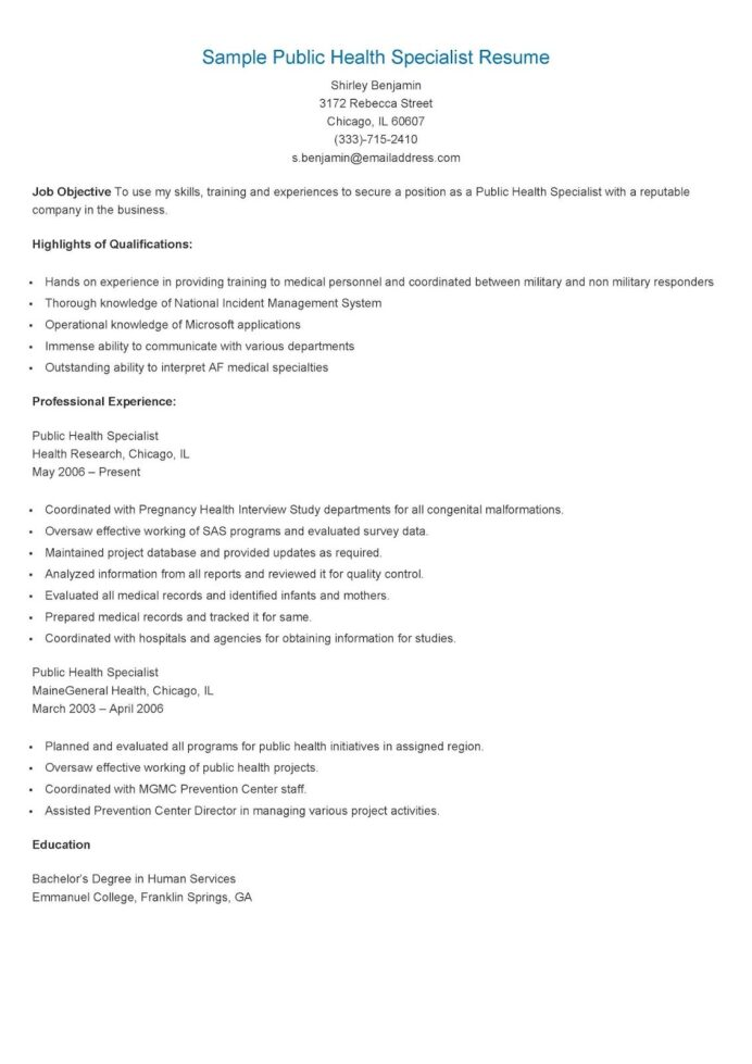 sample public health specialist resume examples jobs enrollment counselor hard skills and Resume Public Health Resume Sample
