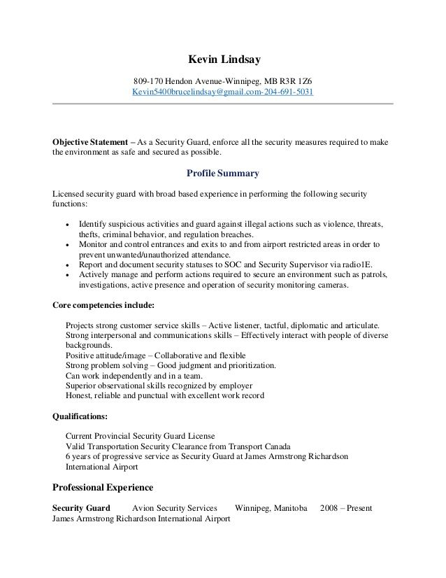 security guard resume examples summary for free writing websites office manager training Resume Security Summary For Resume