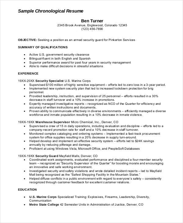security guard resume free sample example format premium templates summary for armed Resume Security Summary For Resume