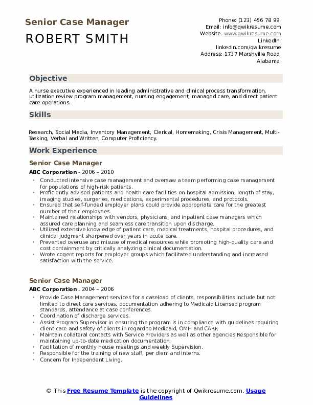senior case manager resume samples qwikresume management pdf pitch example things must Resume Case Management Resume Samples