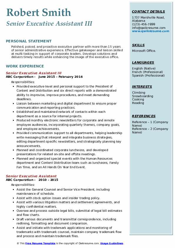 senior executive assistant resume samples qwikresume experienced pdf format for indeed Resume Experienced Executive Assistant Resume