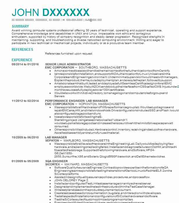 senior linux administrator resume example mosaic city unix sample currently studying on Resume Unix Administrator Resume Sample