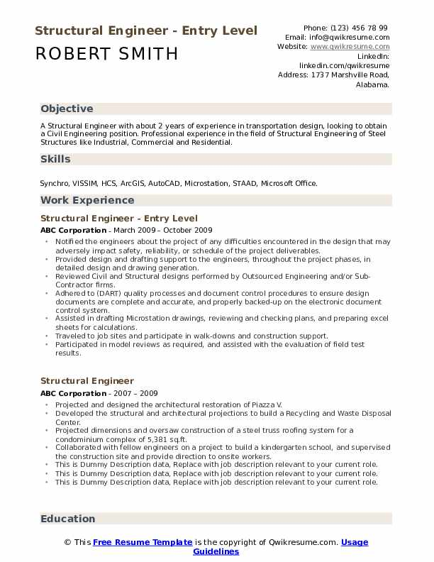 structural engineer resume samples qwikresume entry level engineering pdf supervisor Resume Entry Level Engineering Resume