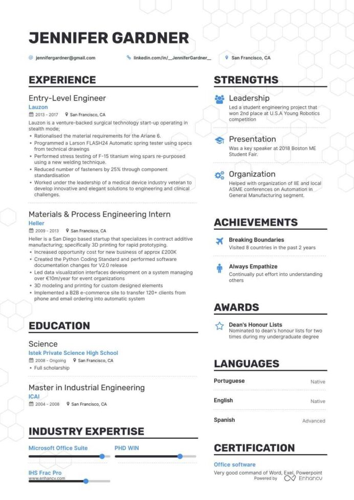 the best entry level engineer resume examples skills to get you hired engineering sample Resume Entry Level Engineering Resume